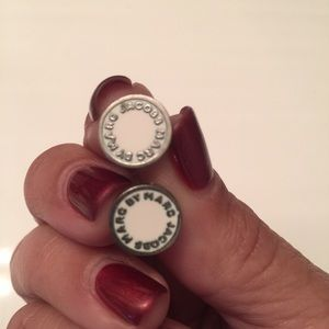 Marc by Marc Jacobs white circle earrings